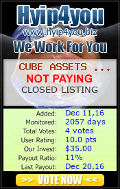 hyip4you.biz - hyip cube assets limited