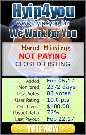 hyip4you.biz - hyip hand mining