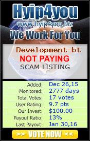 ссылка на мониторинг http://hyip4you.biz/details-7276.html